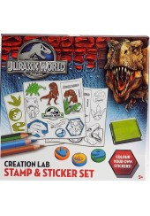 STAMP & STICKER SET JURASSIC WORLD