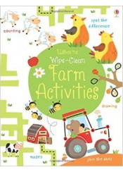 USBORNE WIPE -CLEAN  FARM ACTIVITIES