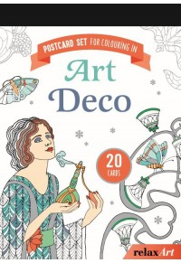 POSTCARD SET FOR COLOURING IN: ART DECO 978-3-625-17994-8 9783625179948