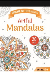 POSTCARD SET FOR COLOURING IN: ARTFUL MANDALAS