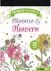 POSTCARD SET FOR COLOURING IN: BLOOMS & FLOWERS