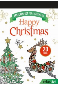 POSTCARD SET FOR COLOURING IN: HAPPY CHRISTMAS 978-3-625-17993-1 9783625179931