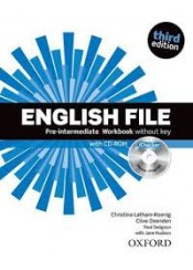 ENGLISH FILE PRE-INTERMEDIATE WORKBOOK (+CD-ROM) WITHOUT KEY