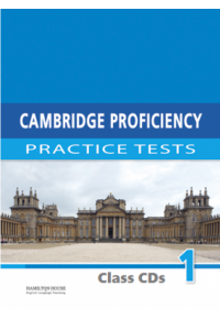 CAMBRIDGE PROFICIENCY PRACTICE TESTS 1 CLASS CD's 978-9963-721-65-8 9789963721658