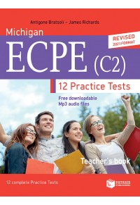 MICHIGAN ECCE (C2) 12 PRACTICE TESTS TEACHER'S BOOK 978-960-16-9075-9 9789601690759