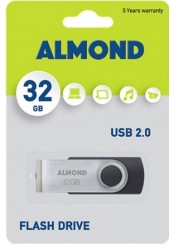 ALMOND FLASH DRIVE USB 32 GB TWISTER ΜΑΥΡΟ