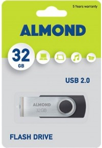 ALMOND FLASH DRIVE USB 32 GB TWISTER ΜΑΥΡΟ  5205135076486