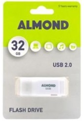 ALMOND FLASH DRIVE USB 32GB PRIME - ΛΕΥΚΟ