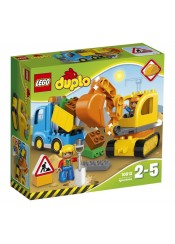 TRUCK AND TRACKED EXCAVATOR - LEGO DUBLO 10812