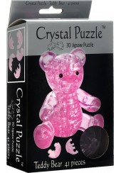 3D CRYSTAL PUZZLE - ΑΡΚΟΥΔΑΚΙ ΡΟΖ - 41 ΤΕΜ.