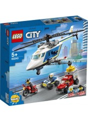 POLICE HELICOPTER CHASE LEGO CITY 60243 ΜΕ ΛΑΜΠΑΔΑ