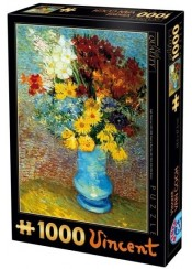 ΠΑΖΛ 1000 ΤΕΜ. VINCENT VAN GOGH - FLOWERS IN A BLUE VASE