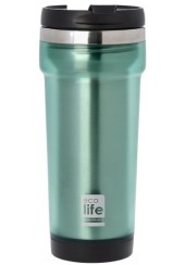 COFFEE THERMOS MUG PLAST/S.S 420 ml GREEN