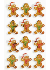 ΑΥΤΟΚΟΛΛΗΤΑ BSB CREATIVE CHRISTMAS 3D GINGERBREAD MEN (1 ΦΥΛΛΟ)